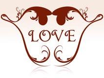 Forme de coeur avec floral illustration libre de droits