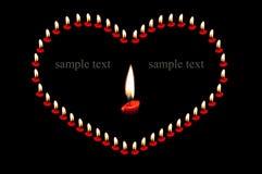 Forme de coeur avec la bougie Image libre de droits