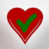 Forme de coeur avec le coutil illustration libre de droits