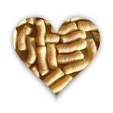 Forme de coeur complètement des souffles de maïs Images libres de droits