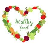 Forme de coeur d'amour avec des légumes Photo libre de droits