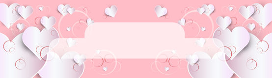 Forme de coeur d'amour de Valentine Day Gift Card Holiday illustration stock