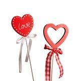 Forme de coeur d'amour de Valentins Photo stock