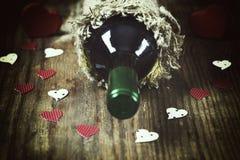 Forme de coeur d'amour de vin Images stock