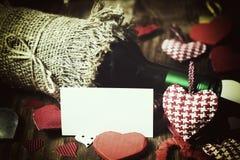 Forme de coeur d'amour de vin Photographie stock libre de droits