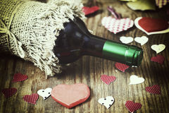 Forme de coeur d'amour de vin Photos stock