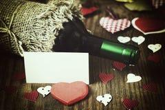 Forme de coeur d'amour de vin Image stock