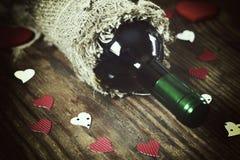 Forme de coeur d'amour de vin Photographie stock