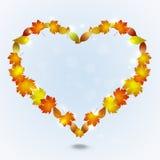 Forme de coeur d'Autumn Leaves Photo stock