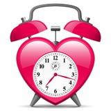 forme de coeur d'horloge d'alarme illustration de vecteur