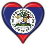 Forme de coeur d'indicateur de bouton de Belize Photos stock