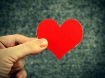 Forme de coeur dans la main Image libre de droits