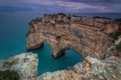 Forme de coeur dans le paysage maritime Photo libre de droits