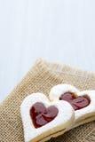 Forme de coeur de biscuits Photographie stock libre de droits
