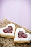 Forme de coeur de biscuits Images libres de droits