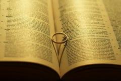 Forme de coeur de boucle de mariage Photos stock