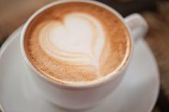 Forme de coeur de café image libre de droits