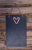 Forme de coeur de canne de sucrerie de vacances Photos libres de droits