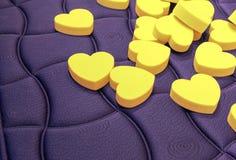 Forme de coeur de coussin Photographie stock libre de droits
