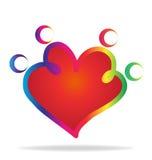 Forme de coeur de famille illustration de vecteur