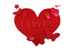 forme de coeur de fleurs de guindineaux Photos libres de droits