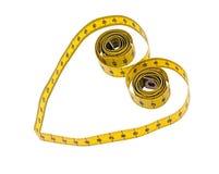 Forme de coeur de mesure de bande - santé, concept de poids Photos libres de droits
