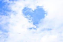Forme de coeur de nuage Photo libre de droits