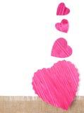 Forme de coeur de papier de coupe de conception Image stock