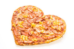 Forme de coeur de pizza Image stock