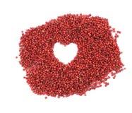 Forme de coeur de poivron rouge Image stock