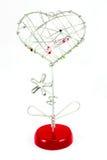 Forme de coeur de stand d'illustration en métal Photo stock