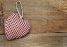 Forme de coeur de tissus de coussin Photos stock