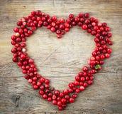 Forme de coeur des baies fraîches Images libres de droits