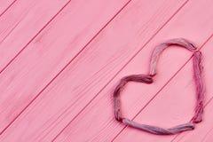 Forme de coeur des fils colorés Image stock