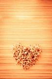 Forme de coeur des fleurs Photos stock
