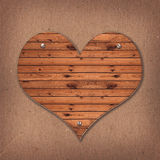 Forme de coeur du bureau en bois image stock