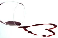 Forme de coeur du vin rouge Photographie stock libre de droits