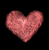 Forme de coeur effectuée à partir de la mousse Image libre de droits