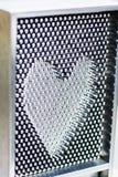 Forme de coeur en métal Images libres de droits