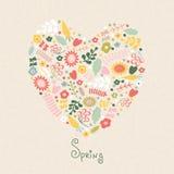 Forme de coeur faite de fleurs Image libre de droits