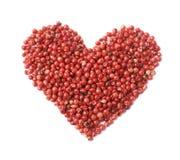 Forme de coeur faite de graines de poivre Photos libres de droits