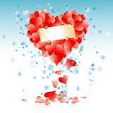 Forme de coeur faite de lames Images libres de droits