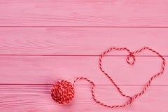 Forme de coeur de fil de laine Image libre de droits