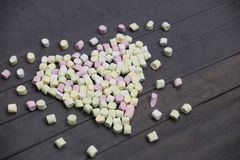 Forme de coeur de guimauve valentine Photographie stock