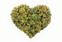 Forme de coeur de marijuana Image libre de droits