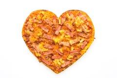 Forme de coeur de pizza Images stock