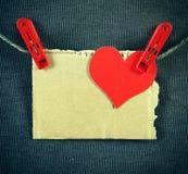 Forme de coeur sur la corde Images libres de droits