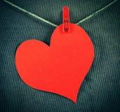 Forme de coeur sur la corde Photographie stock libre de droits