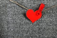 Forme de coeur sur la corde Photos libres de droits