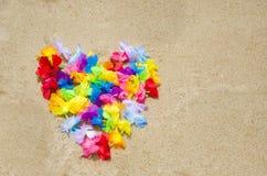 Forme de coeur sur la plage Images stock